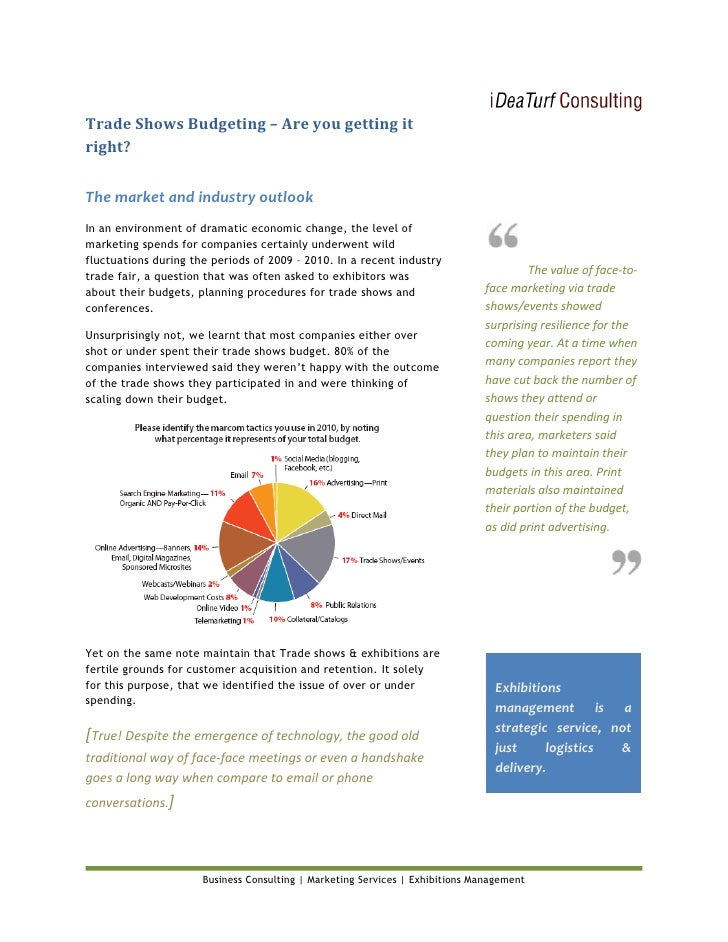 Trade shows budgeting - White paper