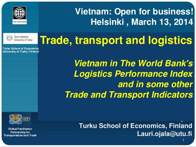 Trade, transport and logistics in vietnam