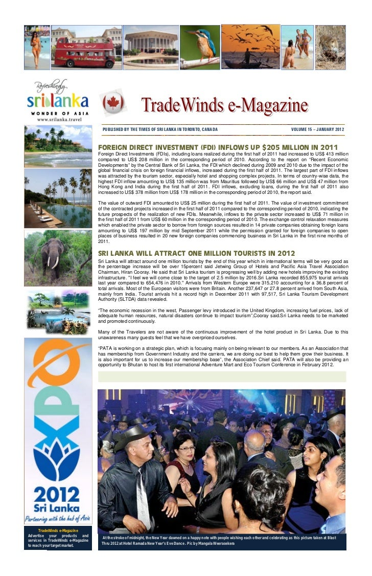 PUBLISHED BY THE TIMES OF SRI LANKA IN TORONTO, CANADA                                                          VOLUME 15 ...