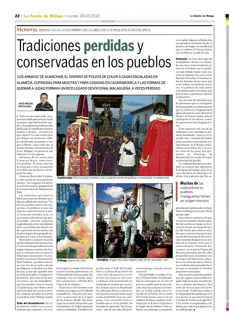 22 • La Pasión de Málaga • Lunes 29.03.2010                                                                               ...