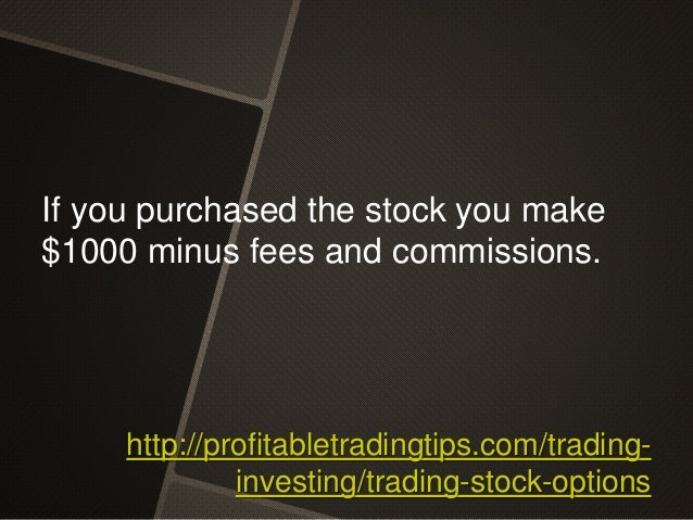 How to make money trading stock options