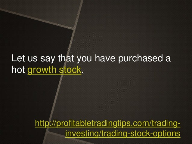 What is option trading in stock