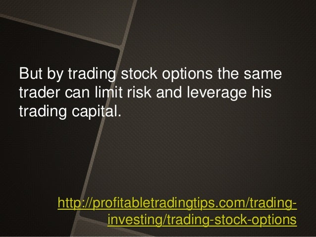 Can stock options be traded