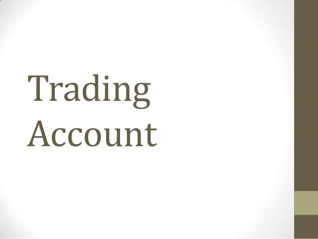 Upper Secondary Principles Of Account-Trading Account