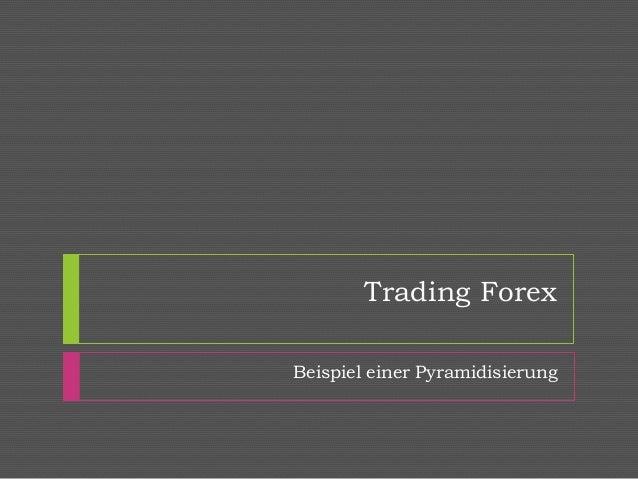 Trading Forex Beispiel einer Pyramidisierung