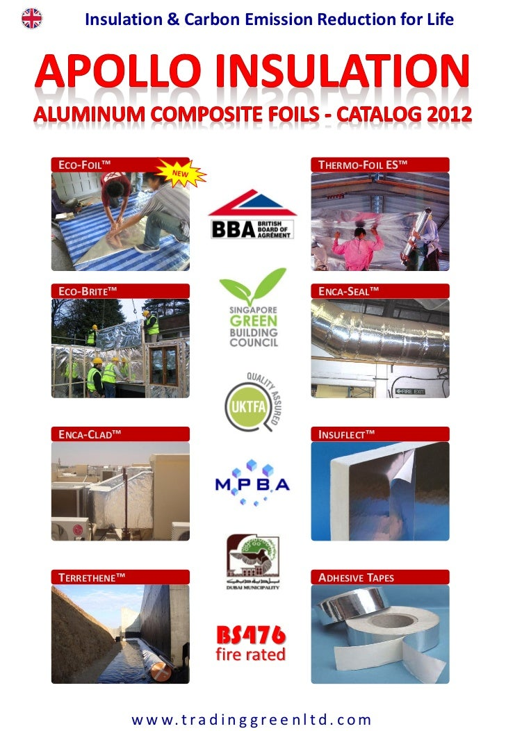 Apollo Insulation Aluminum Composite Foils - Catalog 2012