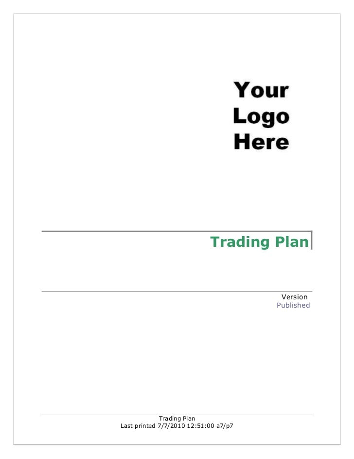 Trading Plan                                        Version                                       Published             Tr...