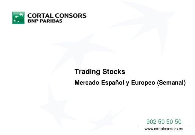 Trading Stocks Mercado Español y Europeo (Semanal) 902 50 50 50 www.cortalconsors.es