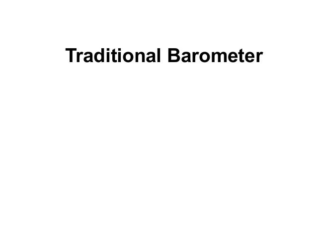 Traditional barometer