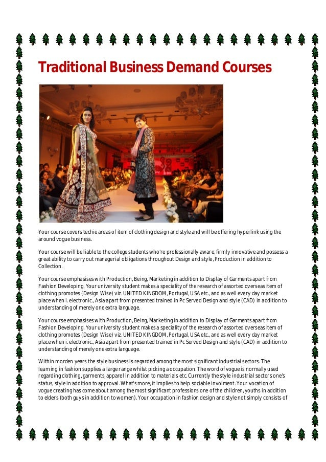 Traditional Business Demand Courses