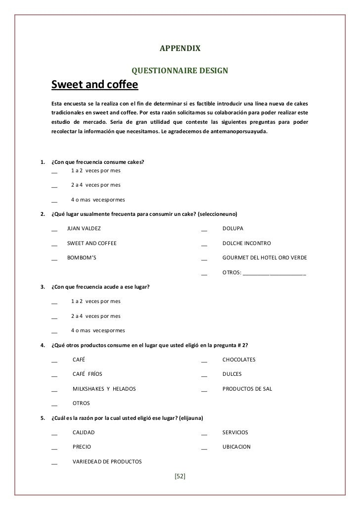 sample questionnaire on boutique Sample survey questions, answers and tips | page 3  these sample questions are provided to help you determine what you should ask in a survey as well as what ques.