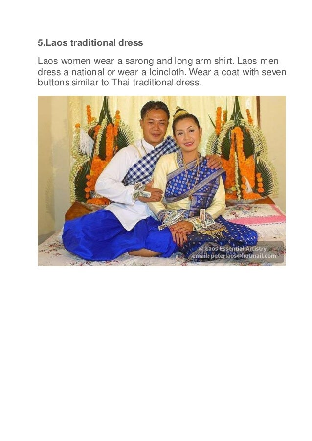 Traditional dress of 10 countries in asean