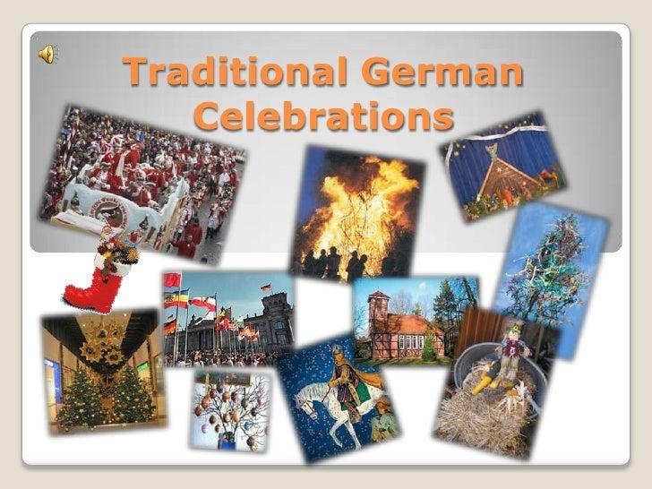 Traditional German   Celebrations