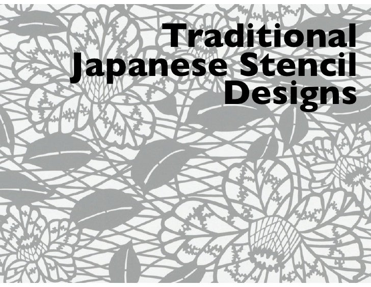 TraditionalJapanese Stencil        Designs