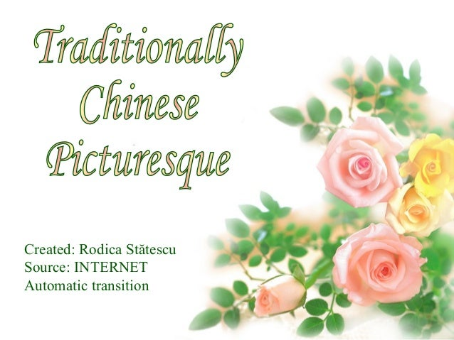 Traditionally chinese picturesque