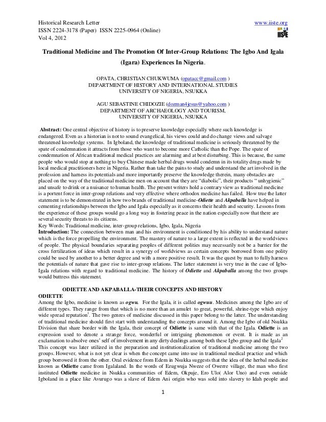 Historical Research Letter                                                                             www.iiste.orgISSN 2...