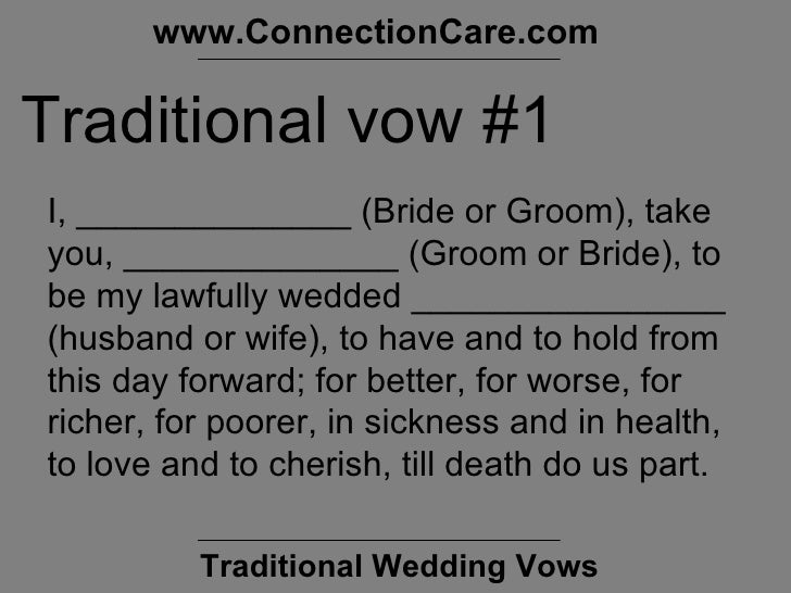 Best Non Traditional Wedding Vows