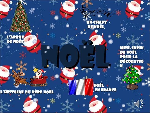 Un Chant de Noël L'arbre de No ë l  Noël  L'histoire du p ère Noël  Noël en France  Mini - sapin de Noël pour la décoratio...