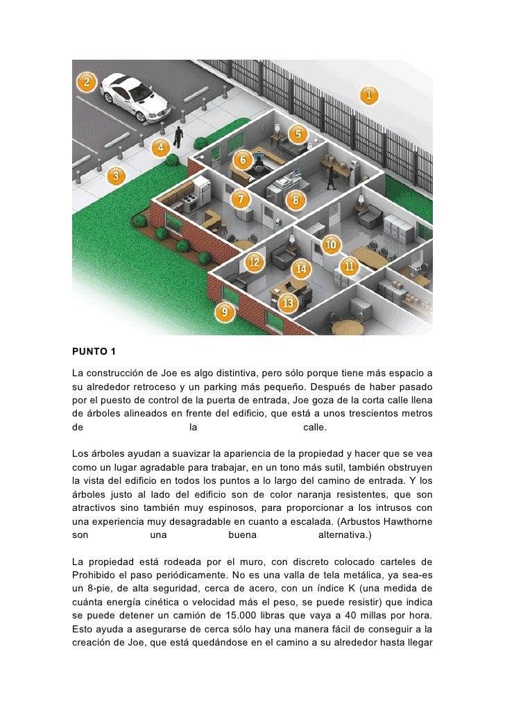 PUNTO 1  La construcción de Joe es algo distintiva, pero sólo porque tiene más espacio a su alrededor retroceso y un parki...