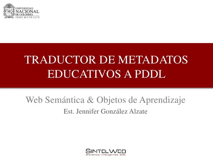 Traductor de metadatos educativos a pddl