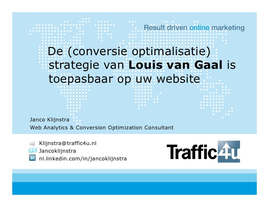 GAUC2010 - Janco Klijnstra - Traffic4u