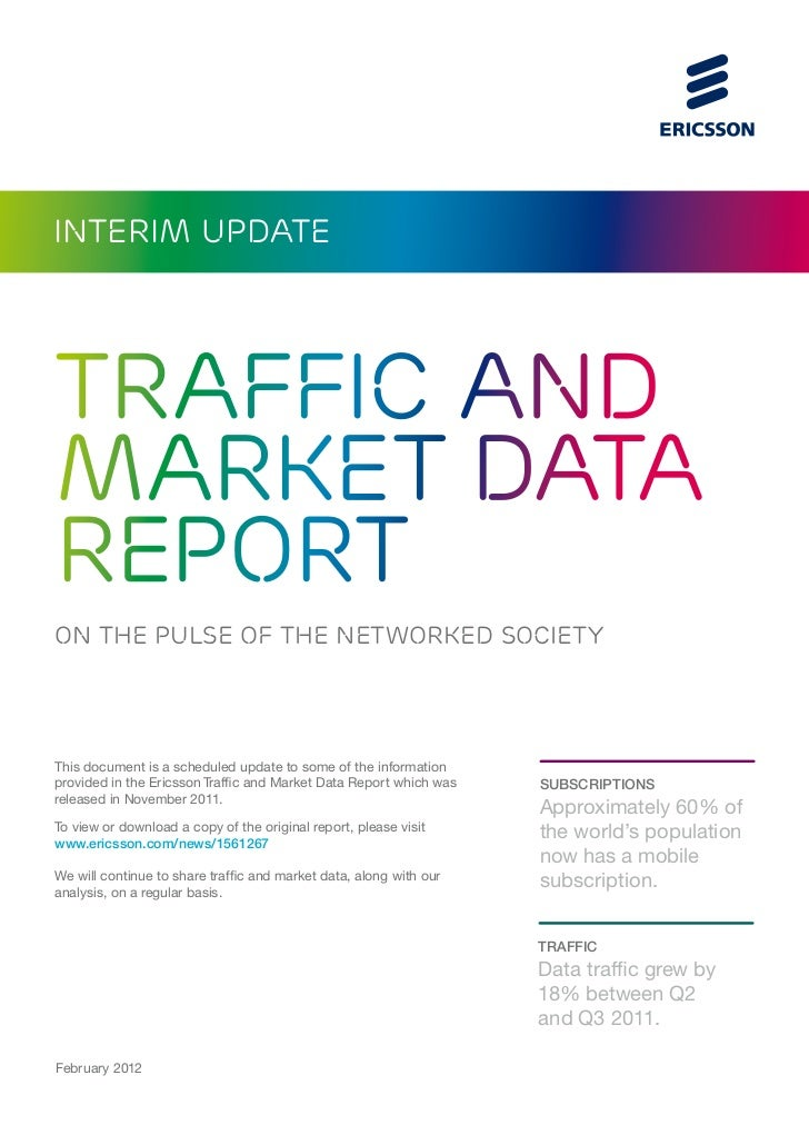 interim updateTRAFFIC ANDMarket datareportON THE PULSE OF THE NETWORKED SOCIETYThis document is a scheduled update to some...