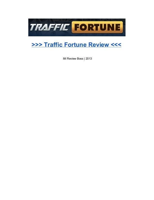 >>>TrafficFortuneReview<<<IMReviewBoss|2013