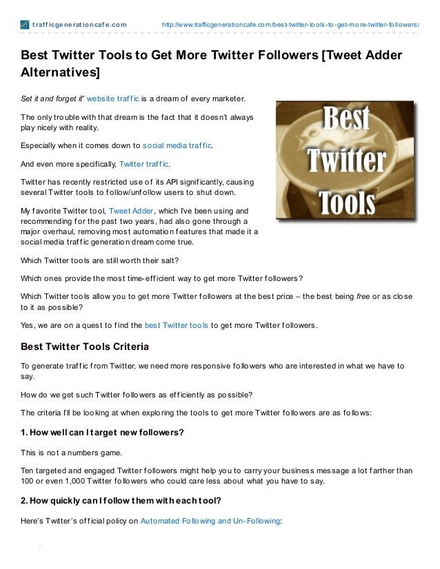 Trafficgenerationcafe.com: best twitter tools to get more followers