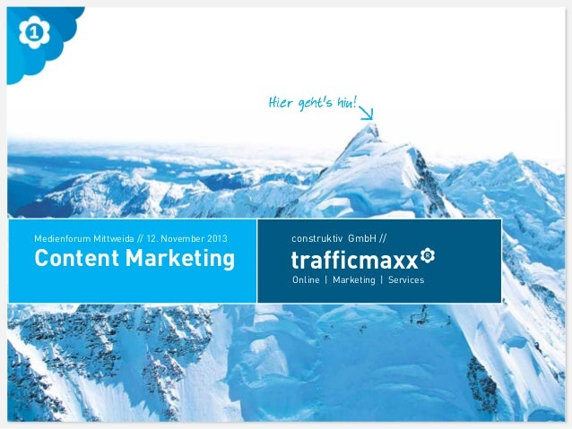 trafficmaxx - Content Marketing Workshop - Medienforum Mittweida 2013