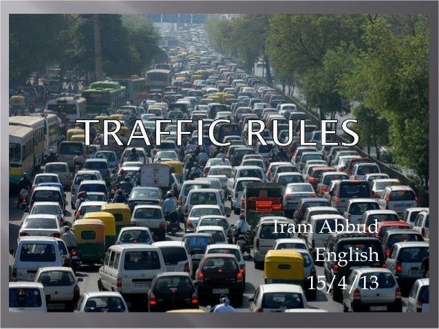 essay road safety traffic rules