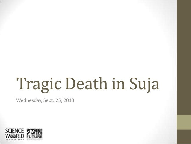 Tragic Death in Suja Wednesday, Sept. 25, 2013