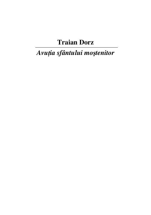 Traian Dorz: Avutia sfantului mostenitor