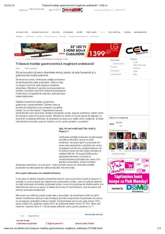 10/22/12                                                Trăiască tradiția gastronomică maghiară ardeleană! > EVZ.ro       ...