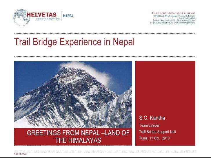 Helvetas Nepal Trail bridge experience