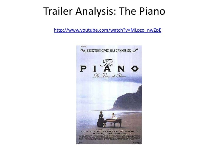 Trailer analysis of the piano