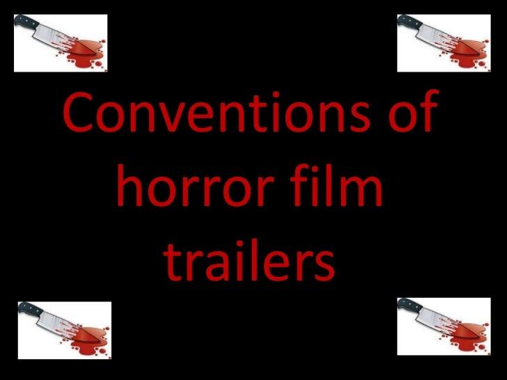 Horror film trailer research
