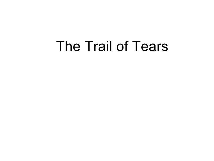 Trailof tears ppt
