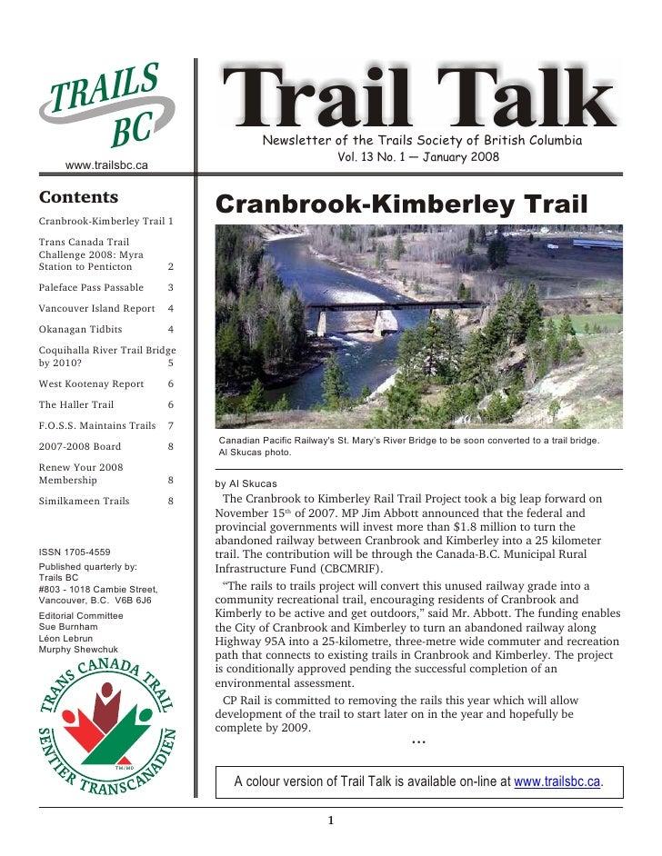 AI L S   TR      BC      www.trailsbc.ca                                   Trail Talk                                     ...