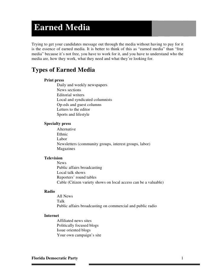 Training Manual Earned Media