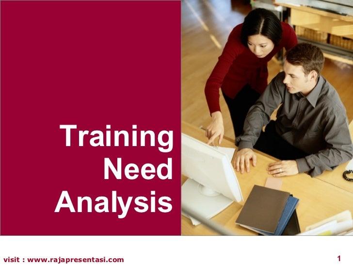 Analisa Kebutuhan Pelatihan