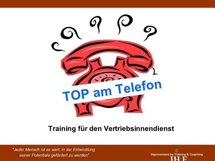 TOP am Telefon Training für den Vertriebsinnendienst