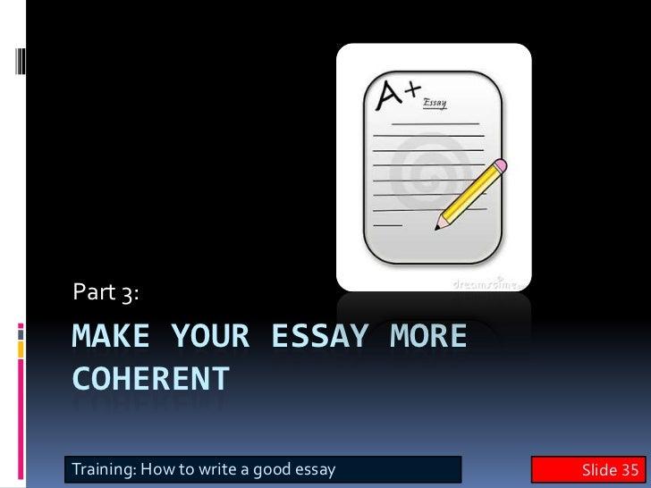 english writing skills    essay training  slide