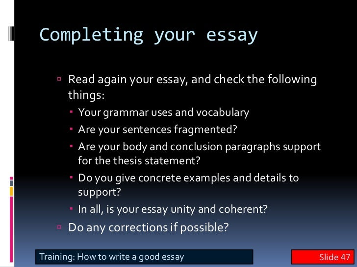 your special skill essay