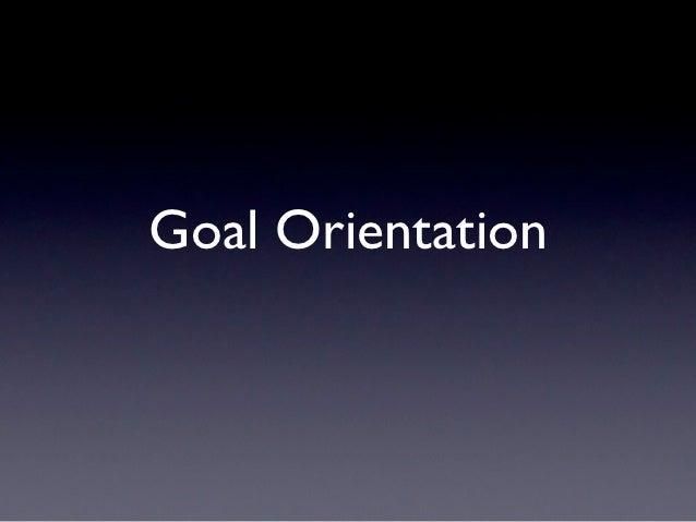 Mindset Training 2 - Goal Orientation