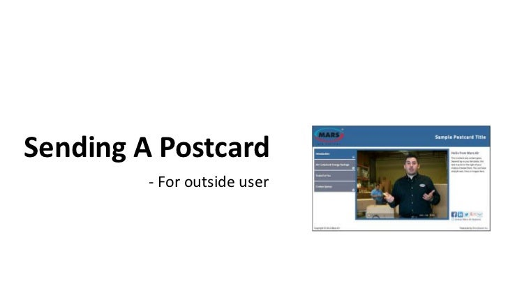 Sending A Postcard         - For outside user