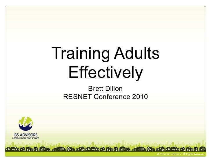 Training Adults