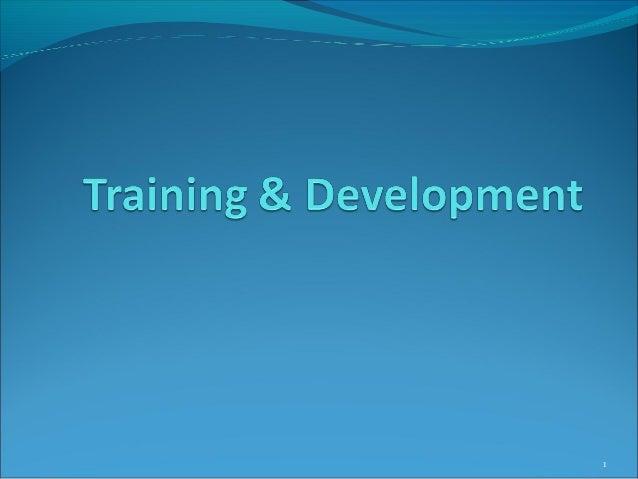 Training and developmen 2