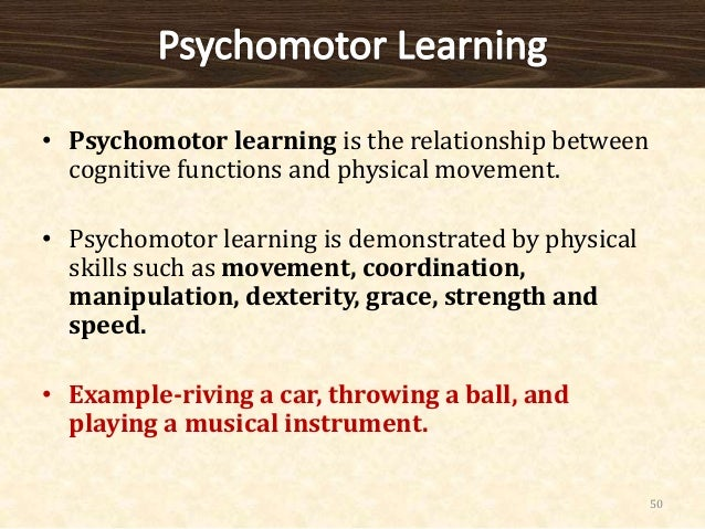 relationship between cognitive and psychomotor development