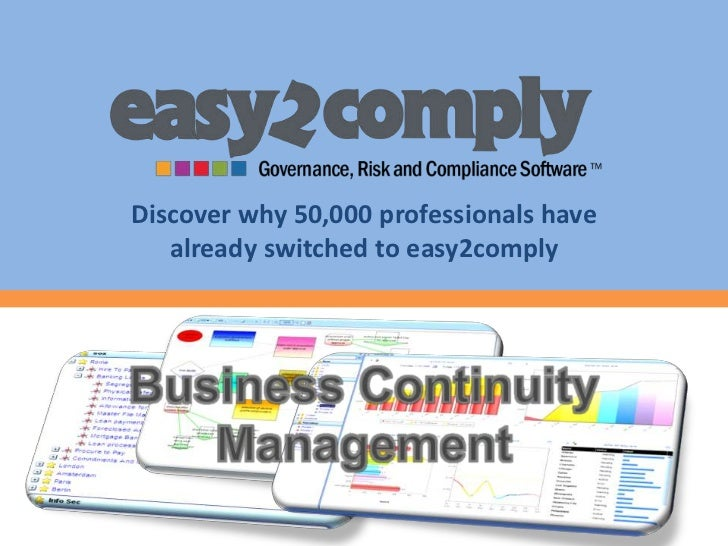 Discover why 50,000 professionals have   already switched to easy2comply