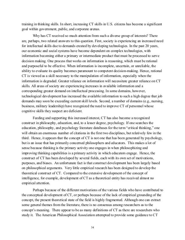 developing critical thinking essay Developing critical thinking essay sample pages: 13 critical thinking as a process i can be untrusting of others and not give them an opportunity to develop.